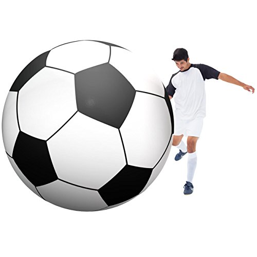 GoFloats Giant Inflatable Soccerball - 6 Feet -