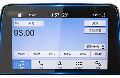 LUVCARPB カーナビゲーションスクリーンプロテクター、フォードフォーカス2020に適合、9H強化ガラスディスプレイ透明保護