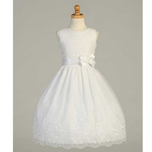 Lito White Embroidered Organza First Communion Dress Girls 6 for $<!--$68.99-->