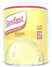 Slimfast Banana 292g, Meal Shake Banana Flavour, Can Help You Lose Weight and Keep it Off, Source of Fibre, You can Shake-up in Seconds