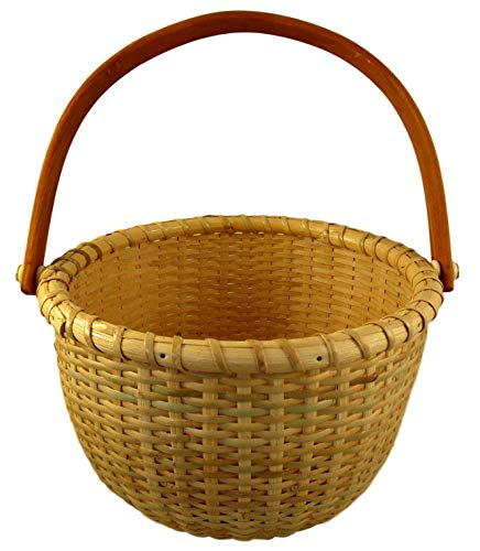 Nantucket Single Handle Round Woven Basket (Large - 7 1/4