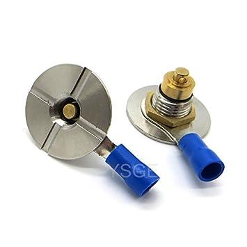 2 pcs New Spring Loaded 22mm 510 Connector Solder Lug