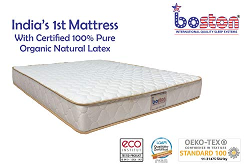 Boston 100% Pure Certified Organic Natural Latex Mattress for Bed (78 x 72 x 5)