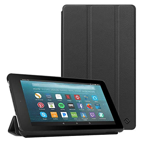 Fintie Slim Case for All-New Amazon Fire 7 Tablet (9th Generation, 2019 Release), Ultra Lightweight Slim Shell Standing Cover with Auto Wake/Sleep, Black ()
