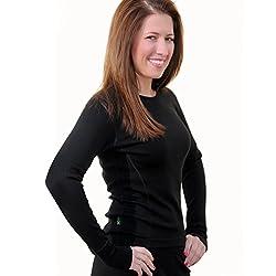 Women's Merino Wool Top By Woolx - Midweight, Moisture Wicking Merino Base Layer