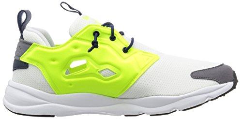 Reebok Furylite, Scarpe da Corsa Uomo Giallo / Bianco / Grigio (White/Solar Yellow/Shark/Black/Cllg Navy)