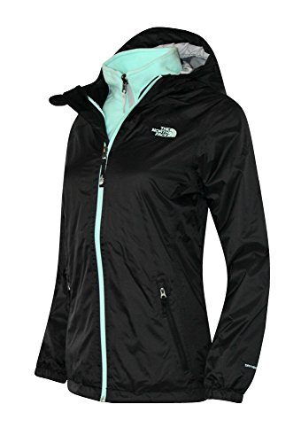 The North Face youth girls Molly Triclimate Jacket TNF Black/Green (XS 6) by The North Face