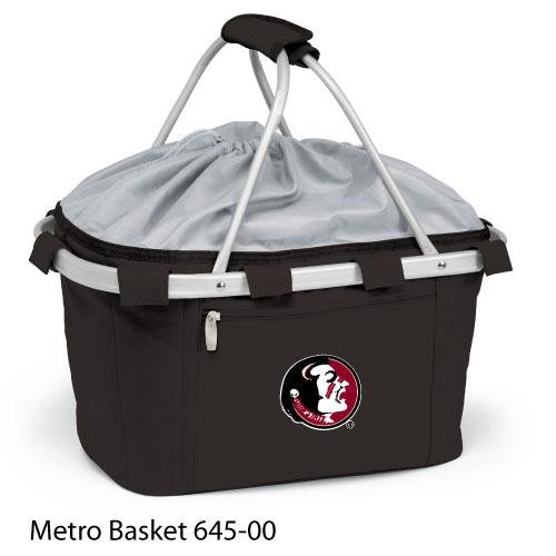 Metro Embroidered Basket (Picnic Time 645-00-175-172-0 Florida State Embroidered Metro Picnic Basket, Black)