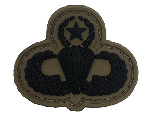SUBDUED US ARMY MASTER PARACHUTIST PVC BADGE (Subdued Master)