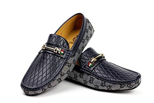 Designer Mocassini JAS Mocassini Blu Fashion Mazzo Conduttore On Casual Slip Ganasce Barche Uomo AqHft