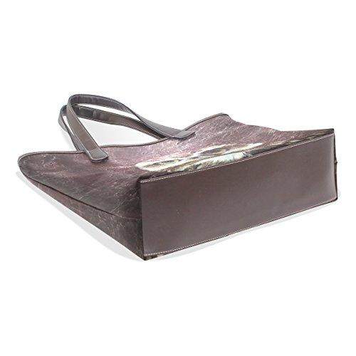 COOSUN Mädchen Eule Pu-Leder große Einkaufstasche Griff Umhängetasche