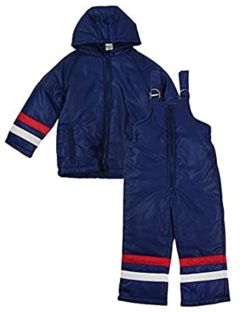 86c57885b6 Boys Dungaree Salopettes   Jacket Snow Suit Ski Winter Set Sizes from 6  Months to 4