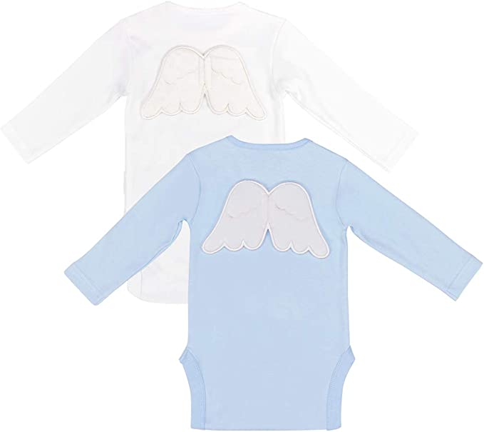 Bebé Pijama Niño Niña Body Manga Lunga Monos Alas de Angel Pelele ...