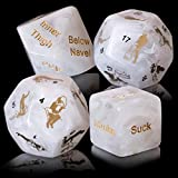 Dalliance Adult Upscale Sex Dice Including 34 Position Instructional Booklet | Sex Games for Couples, Beautifully Packaged to Make The Perfect Gift - White. Gift Boxed.