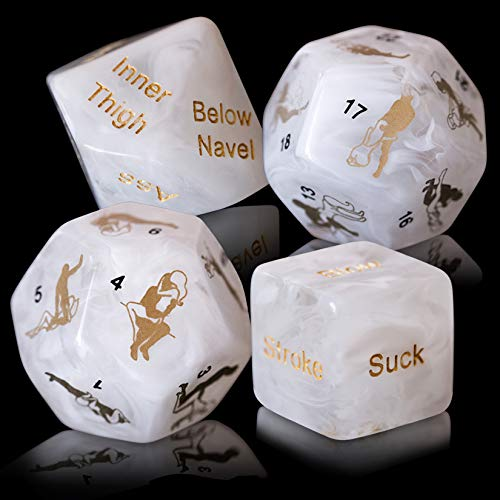 Dalliance Adult Upscale Sex Dice Including 34 Position Instructional Booklet | Sex Games for Couples, Beautifully Packaged to Make The Perfect Gift - White. Gift Boxed. by Dalliance Adult