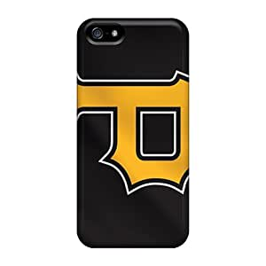 Shock-Absorbing Hard Phone Covers For Iphone 5/5s (ogs16990tqjS) Support Personal Customs Realistic Pittsburgh Pirates Series