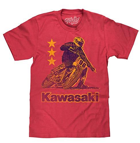 Tee Luv Kawasaki Shirt - Vintage Kawasaki Motorcycle Racing T-Shirt (XXX-Large) - Vintage Kawasaki