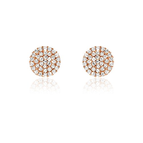 ELLA CIRCLE OF LOVE GOLD&SILVER Stud Earrings (Rose Gold) by Ella Jewel