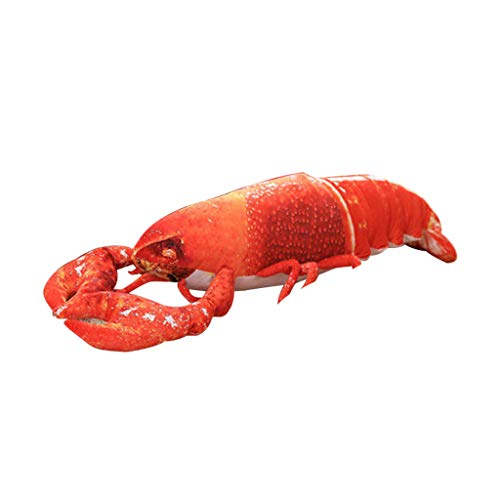 (BiuBuy 3D Simulation Lobster Shape Pillow Soft Back Cushion Mat Plus Stuffed Toy Home Decor (Red)