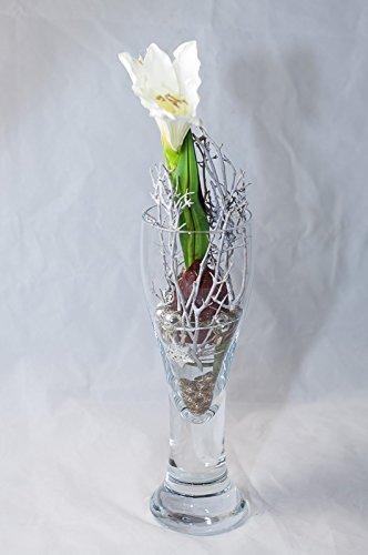 Weihnachtliche Weisse Amaryllis Tischgesteck Tischdeko Mit
