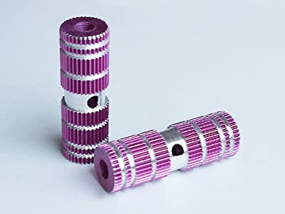 Purple Aluminum Alloy Bike Axle Pegs for Kid BMX Bikes (Kid-Size)