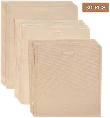 Amazon.com: 20 Pack Toaster Bags Reusable, YANSHON 3 Sizes ...