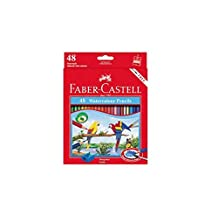 Faber Castell Premium Watercolor Pencils, 48 Colored Pencils by MR.Pencil