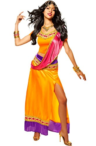 Sexy Bollywood Costumes (Exotic Goddess Bollywood Star Adult Halloween Costume)