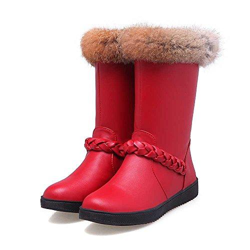 スノーブーツ スノーシューズ 防水 冬用 カジュアル 綿靴 雪靴 防寒 防滑 保暖 ブーツ レディース スキーブーツ 保温 女性 冬 防水 厚底 滑り止め 耐磨耗 無地 アウトドア 雪用ブーツ ファー付き 裏起毛 3色(220mm-245mm) に展開