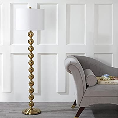 """Safavieh"""" Lighting Collection Reflections 58.5"""" Stacked Ball Floor Lamp, Brass"""