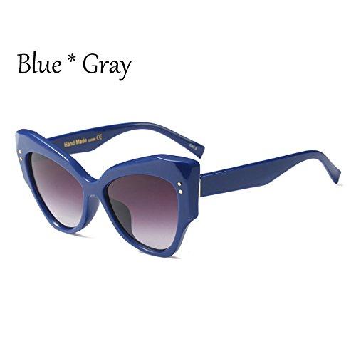 Lujo Big De Uv400 Sol Sol Mujer De Gradiente C4 Cat Frame TIANLIANG04 Leopard Sombras De C2 Gafas Blue Señoras Gris Sobredimensionado Gray Eye Gafas dTSn6qSPxO