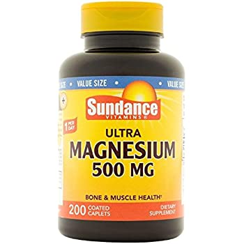 Sundance Magnesium 500 mg Tablets, 200 Count