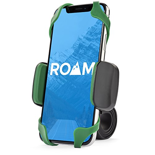 Roam Universal Premium Bike Phone Mount for Motorcycle - Bike Handlebars, Adjustable, Fits iPhone X, iPhone 8 | 8 Plus, Galaxy S9, S8, S7, Holds Phones Up to 3.5' Wide (Green)