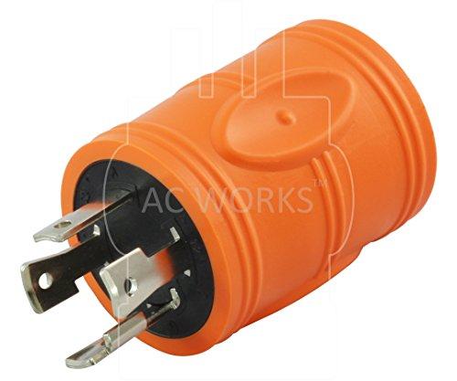 AC WORKS [ADL1430L530] Locking Adapter L14-30P 30A 125/250Volt 4-Prong Male Plug to L5-30R 3-Prong 30A 125Volt Locking Adapter by AC WORKS (Image #2)