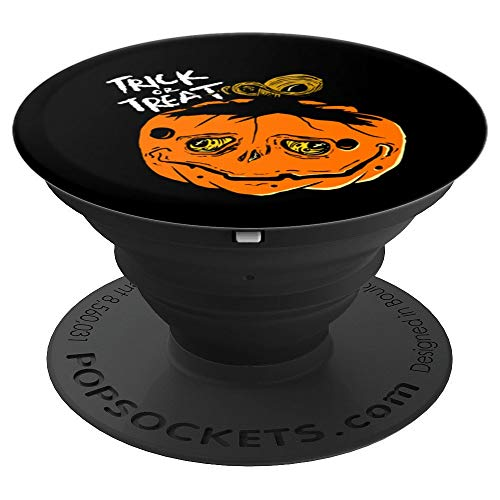Halloween Sad And Creepy Pumpkin Face Trick Or Treat - PopSockets Grip and Stand for Phones and -