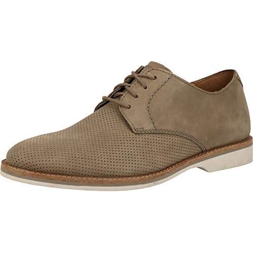 chollos oferta descuentos barato Clarks Atticus Lace Zapatos de Cordones Derby para Hombre Beige Sage Nubuck Sage Nubuck 45 EU