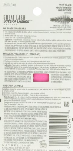 ماسكارا جريت لاش لوت اوف لاشز القابلة للغسل من مايبيلين نيويورك للماكياج، لون اسود حالك، 0.43 اونصة سائلة