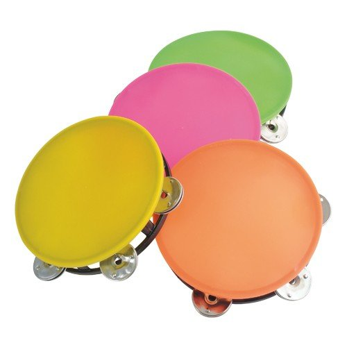 NEON TAMBOURINE/5 1/2 INCH, Sold By Case Pack Of 30 Pieces