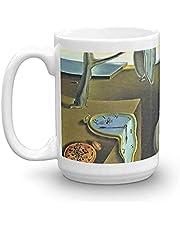 Jupsero Smältande klockor Salvador Dali Fine Art 448 ml keramiska glansiga muggar present för kaffeälskare kaffemugg kaffekopp ITHQ48