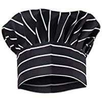 Kodenipr Club® Adjustable Mens Womens Hotel Cafe Restaurants Catering Cooking Chef Cap Hat for Kitchen,(Black Chalk Stripe)
