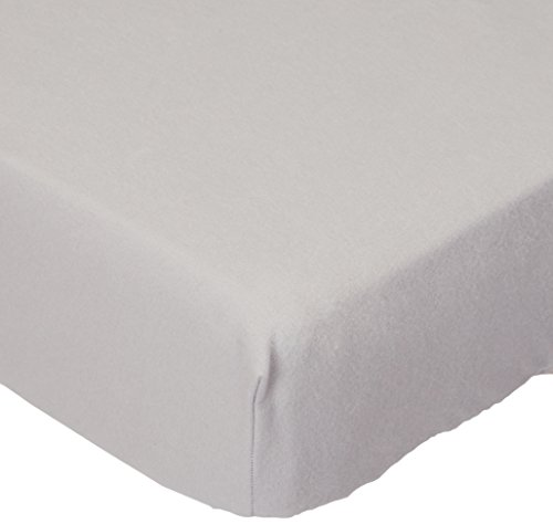 SheetWorld Fitted Portable / Mini Crib Sheet - Flannel - Sil