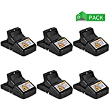 Authen Mouse/Rats Trap, Rats/Mice Trap That Work Humane Power Rodent Killer 100% Mouse Catcher [Quick & Effective & Sanitary] Safe for Families and Pet - 6 Pack