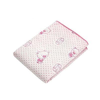 [5070cm] Soft Breathable Mattress Pad Baby Crib Sheets, Pink Bear