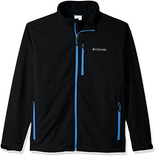 Columbia Men's Big and Tall Ascender Softshell Jacket, Black, Dark Compass, 2X