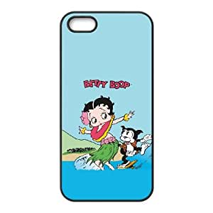 Betty Boop Surfing iPhone 5 5s Cell Phone Case Black Pretty Present zhm004_5938543