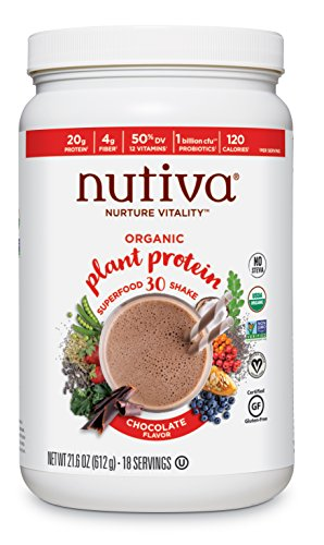 Bio-Pflanzenprotein, Schoko-Geschmack, 21,6 Unzen (612 g) - Nutiva