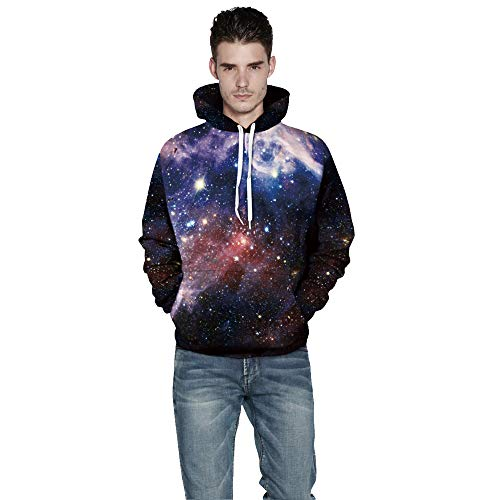 Unisex 3D Galaxy Print Sweatshirts Hooded Pullover Colorful