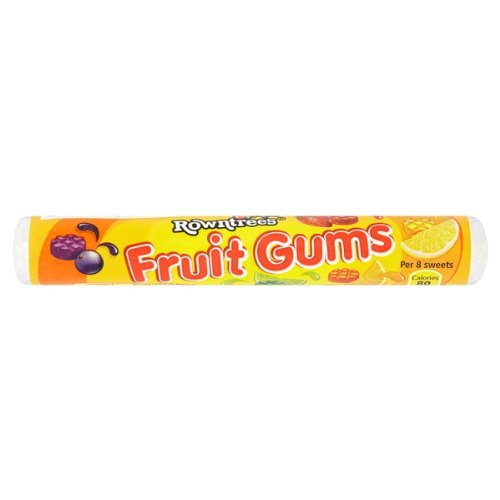 British Rowntrees Fruit Gums Candy Rolls - Case Of 36 x 48g Rolls