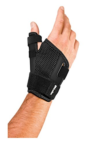(Mueller Sports Medicine Reversible Thumb Stabilizer, Black, Measure Around Wrist- Fits 5.5 - 10.5 Inches (Packaging May Vary) )