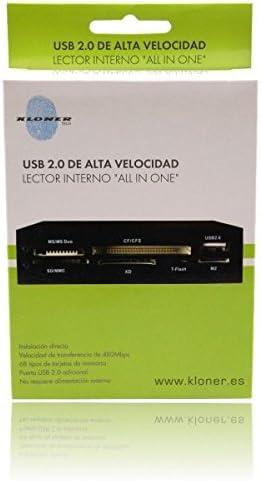 Kloner Tech KLT101 color negro Lector interno all in one con puerto USB 2.0 adicional